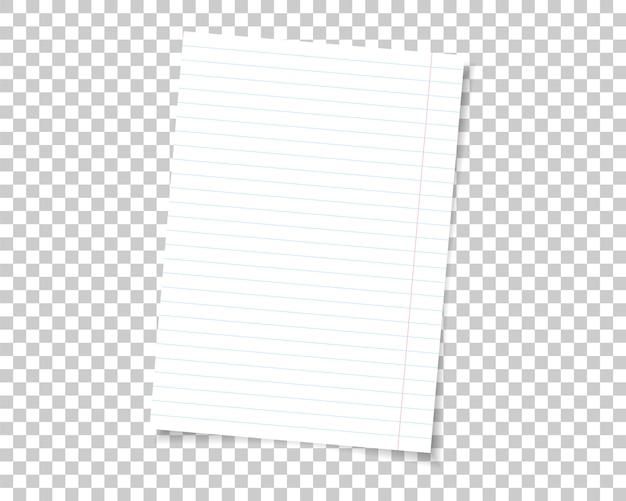 Pagina in bianco bianca isolata su fondo.