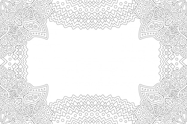 Pagina per la pagina del libro da colorare con lo spazio della copia