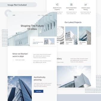 Pagina web di architettura e-mail