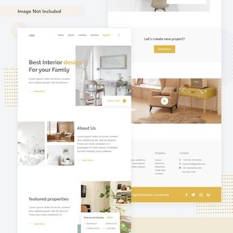 Pagina web di decorazione d'interni