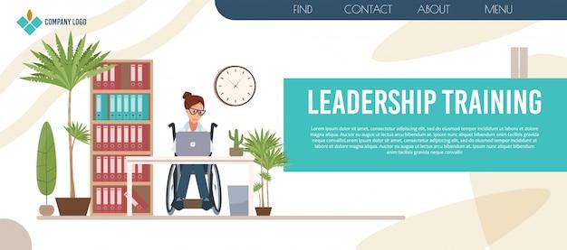 Pagina web di formazione sulla leadership delle persone disabili