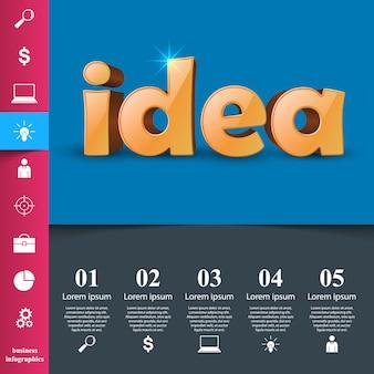 Pagina web di idea - infografica di affari