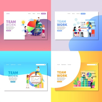 Pagina web di lavoro di gruppo