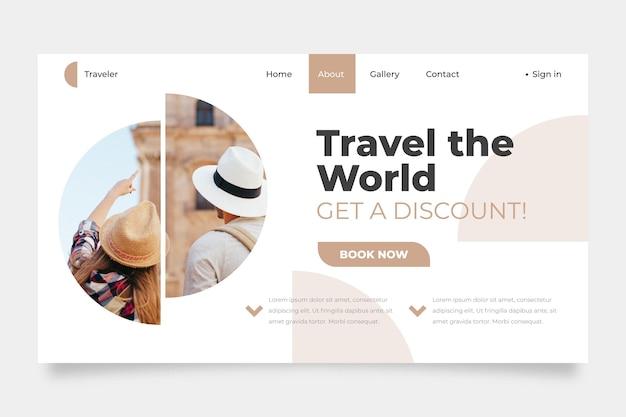 Pagina web di vendita di viaggi