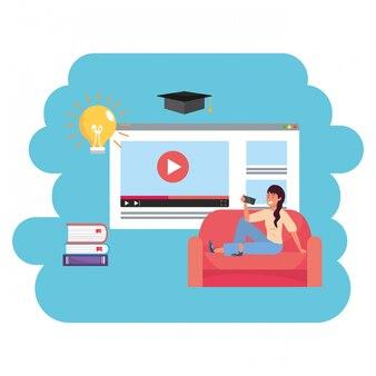 Pagina web per studenti millenari di formazione online