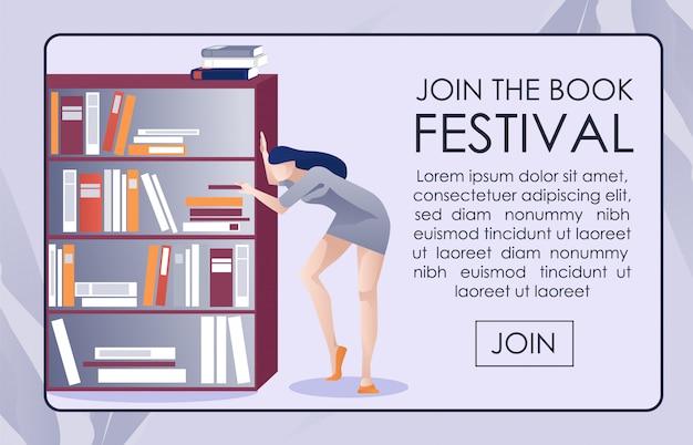 Pagina web pubblicitaria su bookfest e library challenge
