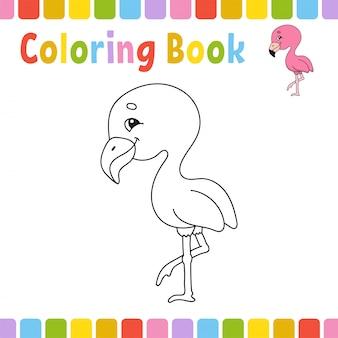 Pagine di libri da colorare per bambini. illustrazione sveglia del fumetto