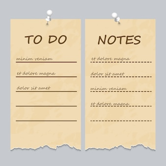 Pagine strappate d'epoca per fare lista e note
