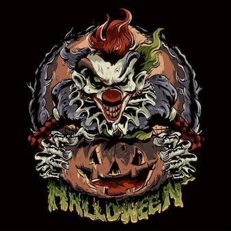 Pagliaccio di halloween
