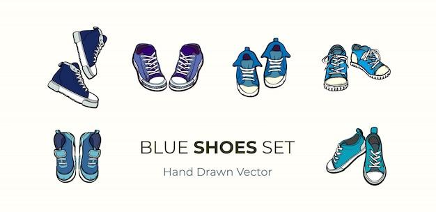 Paia delle scarpe delle scarpe da tennis isolate