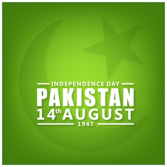 Pakistan 14 agosto independence day sfondo verde