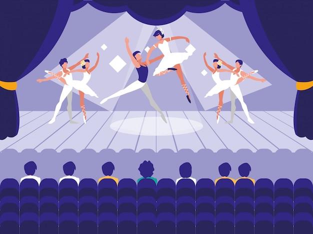 Palco con spettacolo di balletto