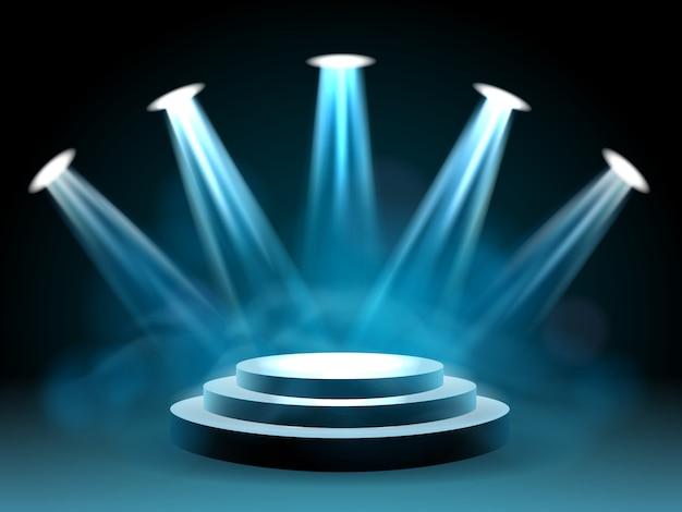Palcoscenico illuminante di hollywood per esibizioni