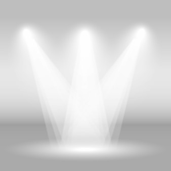 Palcoscenico vuoto con luci