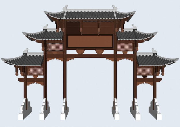 Pali d'ingresso in stile cinese e giapponese