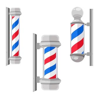 Pali da barbiere in vetro stile vintage con strisce piatte