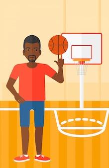 Palla da basket giocatore di basket