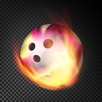 Palla da bowling nel fuoco