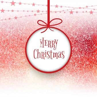 Palla di Buon Natale con sfondo colorato carta