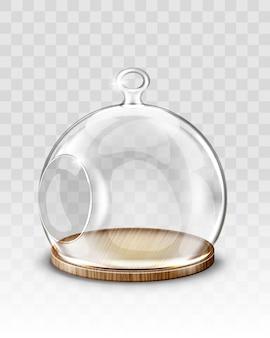 Palla di natale in vetro, cupola pendente con foro