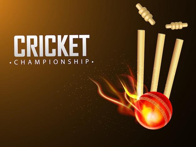 Palla infuocata colpì i ceppi di wicket
