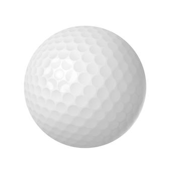 Pallina da golf sopra bianco isolato
