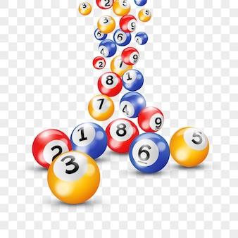 Palline keno lotteria numeri bingo lotto