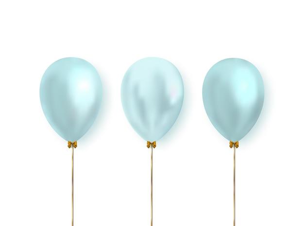 Palloncini color pastello realistici