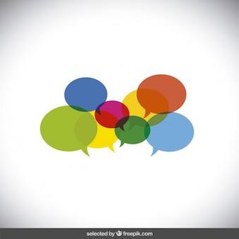Palloncini colorati discorso