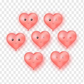 Palloncini cuore carino.
