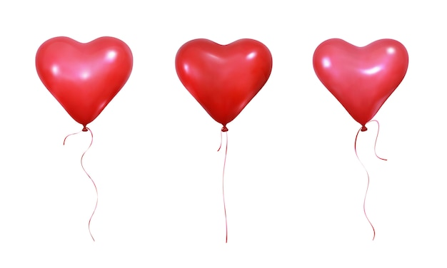 Palloncini cuore san valentino