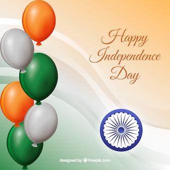 Palloncini e celebrazione dell'indipendenza indiana