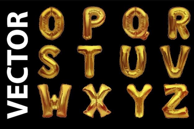 Palloncini in oro metallizzato, alfabeti dorati. palloncini tipo oro.