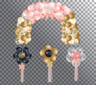 Palloncini su sfondo trasparente