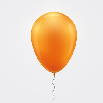 Palloncino arancione realistico.
