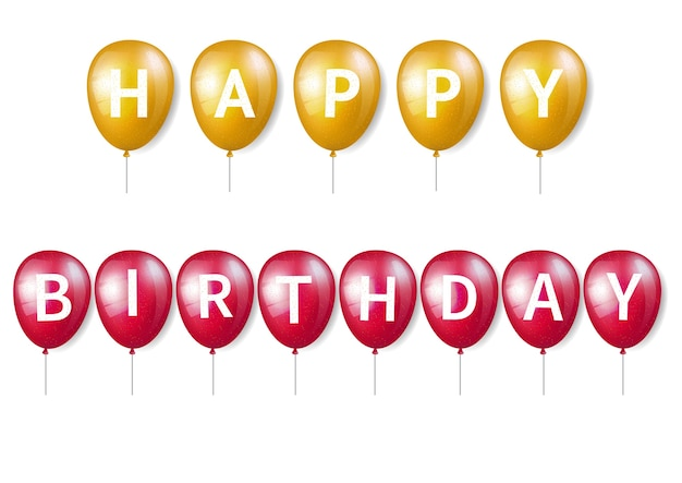 Palloncino di compleanno con lettere