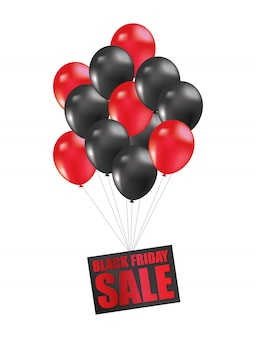 Palloncino di vendita del black friday