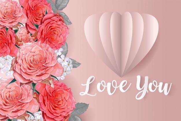 Palloncino rosa e cuore rosa