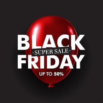 Palloncino rosso lucido di vendita venerdì nero