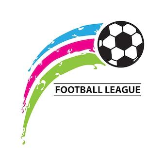 Pallone con tre palloni da calcio football league logo