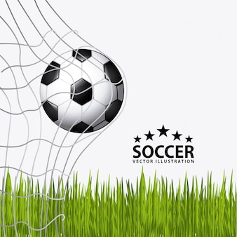 Pallone da calcio con erba