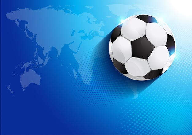 Pallone da calcio con mappa del mondo