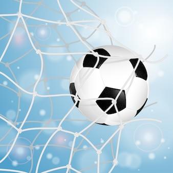 Pallone da calcio in rete