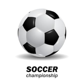 Pallone da calcio realistico di calcio 3d rotondo