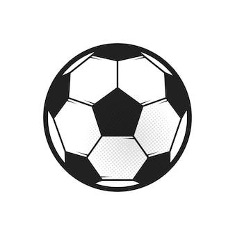 Pallone da calcio su bianco