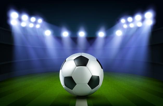 Pallone da calcio su stadio