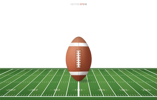 Pallone da calcio sul campo di calcio.
