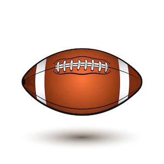 Pallone da rugby con strisce.