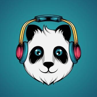 Panda ascolta musica