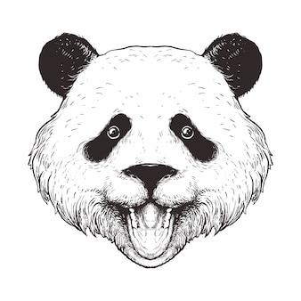 Panda line art illustrazione